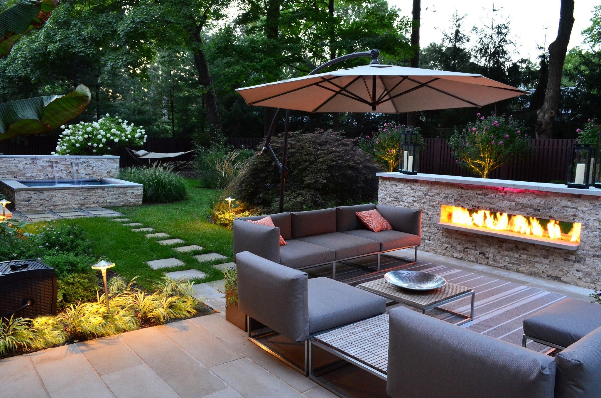 Ландшафтный дизайн дворика